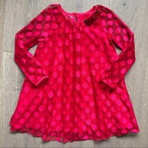 Sz 6X PIPPA & JULIE Red Dot Long Sleeve Dress EUC